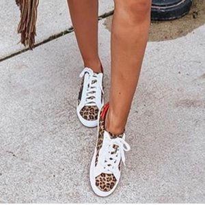 Leopard star sneakers golden goose like